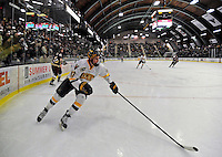 10 January 2009: University of Vermont Catamount forward Matt Marshall, a Freshman from Hingham, MA, in action against the Boston College Eagles in the second game of a weekend series at Gutterson Fieldhouse in Burlington, Vermont. The Catamounts rallied from an early 2-0 deficit to defeat the visiting Eagles 4-2. Mandatory Photo Credit: Ed Wolfstein Photo