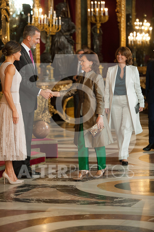 Carmen Calvo attends to Sapnish National Day palace reception at the Royal Palace in Madrid, Spain. October 12, 2018. (ALTERPHOTOS/A. Perez Meca)