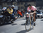 Francesco Moser winning the 1984 Giro d'Italia. In a ceremony at Milan's Upcycle Bike Café this afternoon he was inducted into the Giro d'Italia Hall of Fame, Milan, Italy. 20th March 2015. <br /> Photo: Roberto Bettini/Bettini Photo/www.newsfile.ie
