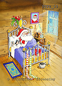 Fabrizio, Comics, CHRISTMAS SANTA, SNOWMAN, paintings, ITFZ13,#x# Weihnachten, Navidad, illustrations, pinturas