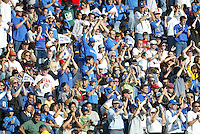 24 October 2004:  Earthquakes' fans celebrate with San Jose Earthquakes during the game against Wizards at Spartan Stadium in San Jose, California.   Earthquakes defeated Wizards, 2-0.  Credit: Michael Pimentel / ISI