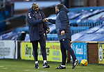 Kilmarnock v St Johnstone…30.01.21   Rugby Park   SPFL<br />Callum Davidson pictured with killie boss Alex Dyer at full time<br />Picture by Graeme Hart.<br />Copyright Perthshire Picture Agency<br />Tel: 01738 623350  Mobile: 07990 594431