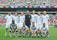 USA's starting eleven before the start of an international friendly tune up match against Turkey for the 2010 World Cup, at Lincoln Financial Field, in Philadelphia, PA, Saturday, May 29, 2010. USA defeated Turkey 2-1.