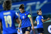 Cristiana Girelli of Italy reacts during the Women s EURO 2022 qualifying football match between Italy and Denmark at stadio Carlo Castellani in Empoli (Italy), October, 27th, 2020. Photo Andrea Staccioli / Insidefoto