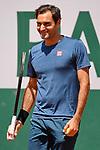 Federer During practice