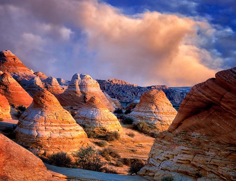 Hoodos with clouds. Vermillion-Cliffs Wilderness, Arizona/Utah<br /> <br /> C00233DL-3