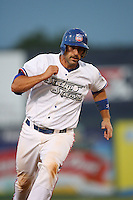 May 18 2009: Alex Garabedian of the Inland Empire 66'ers during game against the Lake Elsinore Storm at Arrowhead Credit Union Park in San Bernardino,CA.  Photo by Larry Goren/Four Seam Images