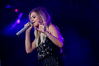 Kelsea Ballerini performs on the main stage of the Festival d'ete de Quebec (FEQ) in Quebec city Monday July 10, 2017.