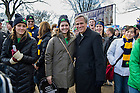 Jan. 22, 2015; University president Rev. John Jenkins C.S.C,. poses for a photo with Notre Dame students at the 2015 March for Life in Washington, D.C. Some 700 University of Notre Dame students, faculty, staff and alumni participated in the 2015 March for Life, which this year observes the 42nd anniversary of the Supreme Court's 1973 Roe v. Wade decision legalizing abortion. (Photo by Barbara Johnston/University of Notre Dame)