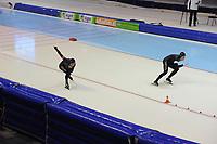 SCHAATSEN: HEERENVEEN: 27-12-2013, IJsstadion Thialf, KNSB Kwalificatie Toernooi (KKT), 500m, Jan Smeekens, Ronald Mulder, ©foto Martin de Jong