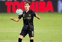 CARSON, CA - SEPTEMBER 06: Francisco Ginella #8 of the LAFC traps a ball during a game between Los Angeles FC and Los Angeles Galaxy at Dignity Health Sports Park on September 06, 2020 in Carson, California.