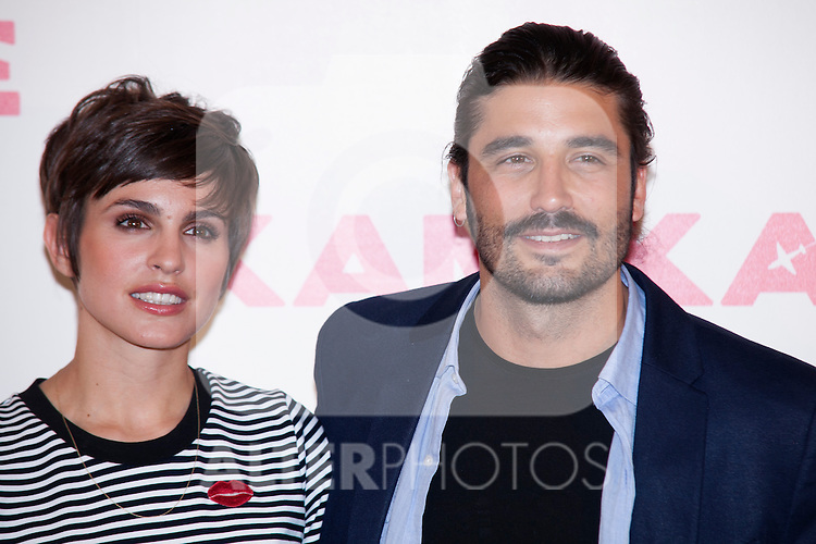 """Spanish Actress Veronica Echegui And Alex García attend the photocell of the movie """"KAMIKAZE"""" in Madrid, Spain. March 27, 2014. (ALTERPHOTOS/Carlos Dafonte)"""