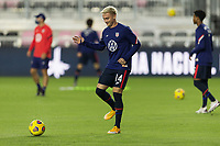FORT LAUDERDALE, FL - DECEMBER 09: Djordje Mihailovic #14 of the United States passes the ball during a game between El Salvador and USMNT at Inter Miami CF Stadium on December 09, 2020 in Fort Lauderdale, Florida.