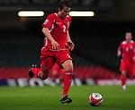 Chris Gunter surges forward. Wales v Azerbaijan.Group 4, 2010 World Cup Qualifier. © Ian Cook IJC Photography iancook@ijcphotography.co.uk www.ijcphotography.co.uk
