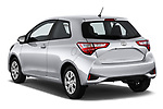 Car pictures of rear three quarter view of 2018 Toyota Yaris Y-oung 3 Door Hatchback Angular Rear