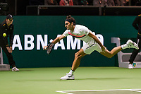 Rotterdam, The Netherlands, 18 Februari, 2018, ABNAMRO World Tennis Tournament, Ahoy, Singles final, Roger Federer (SUI), <br /> <br /> Photo: www.tennisimages.com