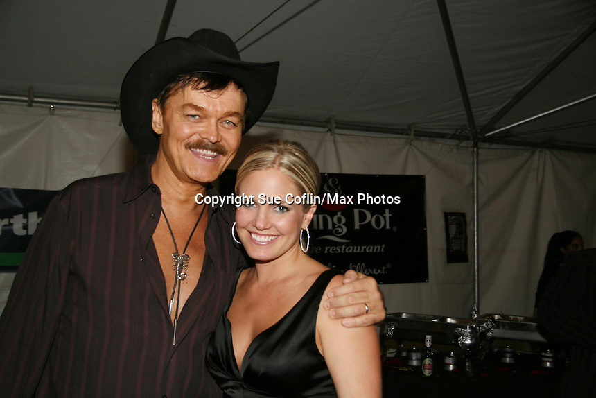 Randy Jones (Village People) and ATWT's Terri Colombino at the Gala Awards Ceremony of the 2008 Hoboken International Film Festival which concluded  with Billy Dee Williams being presented the Lifetime Achievement Award and then nominees and winners were announced on June 5, 2008 at Pier A Park, Hoboken, New Jersey.  (Photo by Sue Coflin/Max Photos)