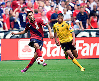 Clint Dempsey (8) of the USMNT passes the ball during the game at RFK Stadium in Washington, DC.  The USMNT defeated Jamaica, 2-0.