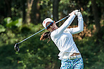 Char-Young Kim of Korea hits her shot during the Hyundai China Ladies Open 2014 at World Cup Course in Mission Hills Shenzhen on December 13 2014, in Shenzhen, China. Photo by Xaume Olleros / Power Sport Images