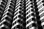 Black and white abstract of San Francisco building