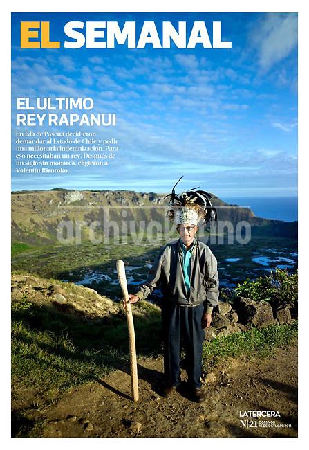 El Rey de Isla de Pascua retratado por Lorenzo Moscia para la revista El Semanal, Chile