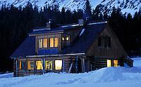 Ski cabin.