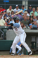 Myrtle Beach Pelicans catcher Tomas Telis #17 at bat during a game against the Winston-Salem Dash at Ticketreturn.com Field at Pelicans Park on July 11, 2012 in Myrtle Beach, South Carolina. Myrtle Beach defeated Winston-Salem by the score of 7-1. (Robert Gurganus/Four Seam Images)