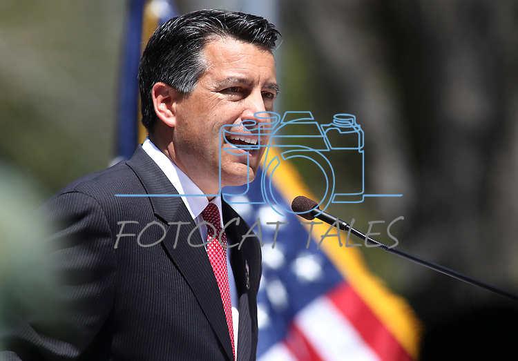 Nevada Gov. Brian Sandoval speaks at the Law Enforcement Officers Memorial ceremony Thursday morning, May 5, 2011, on the Capitol grounds in Carson City, Nev..Photo by Cathleen Allison