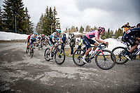 Maglia Rosa / Pink Jersey / GC Leader Egan Bernal (COL/Ineos Grenadiers) up the final part of the Monte Zoncolan <br /> <br /> 104th Giro d'Italia 2021 (2.UWT)<br /> Stage 14 from Cittadella›Monte Zoncolan (205km)<br /> <br /> ©kramon