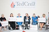 People wait for the arrival of Texas senator and Republican presidential candidate Ted Cruz at the kick-off event at his New Hampshire campaign headquarters in Manchester, New Hampshire.