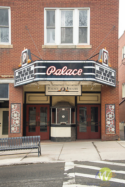 Frostburg, WV. Route 40. Main Street. Palace Theatre and marqui.