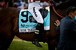 MAY 15, 2021:  Risk Taking and Jose Ortiz before the Preakness Stakes at Pimlico Racecourse in Baltimore, Maryland on May 15, 2021. EversEclipse Sportswire/CSM