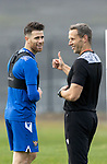 St Johnstone Training….21.10.20     <br />Guy Melamed pictured with fitmess coach Alex Headrick during training at McDiarmid Park today ahead of Saturday's game against Dundee United.<br />Picture by Graeme Hart.<br />Copyright Perthshire Picture Agency<br />Tel: 01738 623350  Mobile: 07990 594431