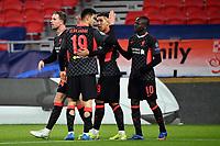 16th February 2021, Puskas Arena, Budapest, Hungary; Champions League football, FC Leipig versus Liverpool FC;  Liverpool's Sadio Mane celebrates after scoring the 0:2 goal.