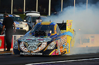 Apr. 27, 2012; Baytown, TX, USA: NHRA funny car driver Jim Head during qualifying for the Spring Nationals at Royal Purple Raceway. Mandatory Credit: Mark J. Rebilas-