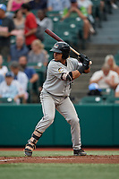 Tri-City ValleyCats Juan Paulino (16) at bat during a NY-Penn League game against the Brooklyn Cyclones on August 17, 2019 at MCU Park in Brooklyn, New York.  Brooklyn defeated Tri-City 2-1.  (Mike Janes/Four Seam Images)
