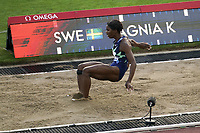 26th August 2021; Lausanne, Switzerland;  Khaddi Sagnia of Sweden during womens long jump at Diamond League athletics meeting at La Pontaise Olympic Stadium in Lausanne, Switzerland. Wanda Diamond League - Athletissima Lausanne