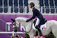 FRA-Christopher Six rides Totem de Brecey during the Eventing Dressage Team and Individual Day 1 - Session 1. Tokyo 2020 Olympic Games. Friday 30 July 2021. Copyright Photo: Libby Law Photography