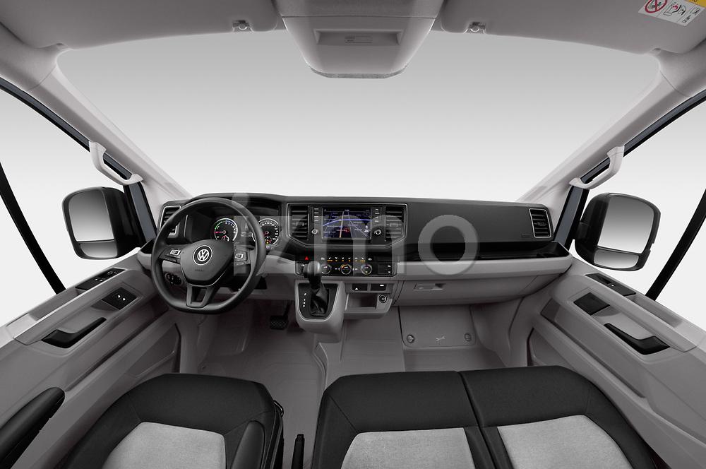 Stock photo of straight dashboard view of 2020 Volkswagen Crafter e-Crafter 4 Door Cargo Van Dashboard