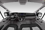 Stock photo of straight dashboard view of 2020 Volkswagen Crafter e-Crafter 4 Door Cargo Van Dashboard