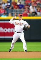 Apr. 12, 2011; Phoenix, AZ, USA; Arizona Diamondbacks shortstop Stephen Drew against the St. Louis Cardinals at Chase Field. Mandatory Credit: Mark J. Rebilas-