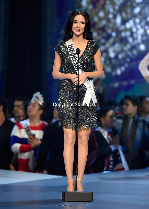 BANGKOK, THAILAND - DECEMBER 17: Miss Indonesia Sonia Fergina Citra on the 2018 MISS UNIVERSE competition at the Impact Arena in Bangkok, Thailand on December 17, 2018. (Photo by Frank Micelotta/FOX/PictureGroup)