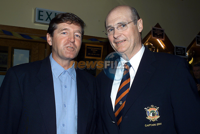 Des Smyth and Neil Matthews Captain Co Louth.Pic Fran Caffrey Newsfile
