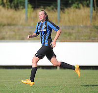 20160827 - AALTER , BELGIUM : Brugge's Silke Choteau pictured during the soccer match  in the 2nd round of the  Belgian cup 2017 , a soccer women game between Club Brugge and Football Club Bercheux   ,  Aalter , saturday 27 th August 2016 . PHOTO SPORTPIX.BE / DIRK VUYLSTEKE