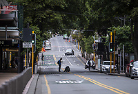 Willis Street at 1pm on Friday. Wellington CBD during lockdown for the COVID19 pandemic in Wellington, New Zealand on Friday, 17 April 2020. Photo: Dave Lintott / lintottphoto.co.nz