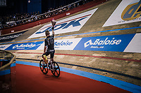 Jules Hesters (BEL) wins the first points race of the day<br /> <br /> zesdaagse Gent 2019 - 2019 Ghent 6 (BEL)<br /> day 2<br /> <br /> ©kramon
