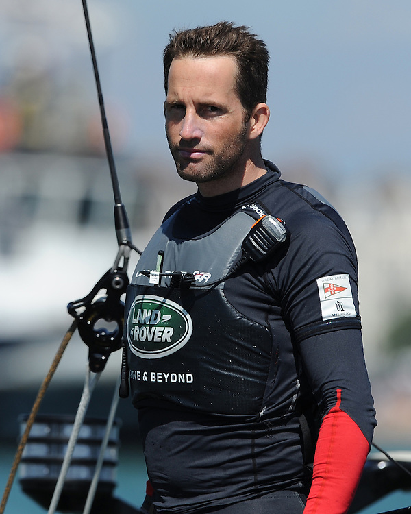 Sir Ben Ainslie (GBR) Land Rover BAR, JULY 23, 2016 - Sailing:  during day one of the Louis Vuitton America's Cup World Series racing, Portsmouth, United Kingdom. (Photo by Rob Munro/Stewart Communications)