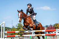 NZL-Jessica McGowan rides Felix Fortunato. Class 26: Pony 1.05m Ranking Class. 2021 NZL-Easter Jumping Festival presented by McIntosh Global Equestrian and Equestrian Entries. NEC Taupo. Saturday 3 April. Copyright Photo: Libby Law Photography