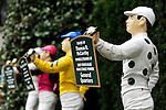 17 October 2009:  Lawn Jockeys display Keeneland Stakes winners at Keeneland Race Course in Lexington Kentucky.