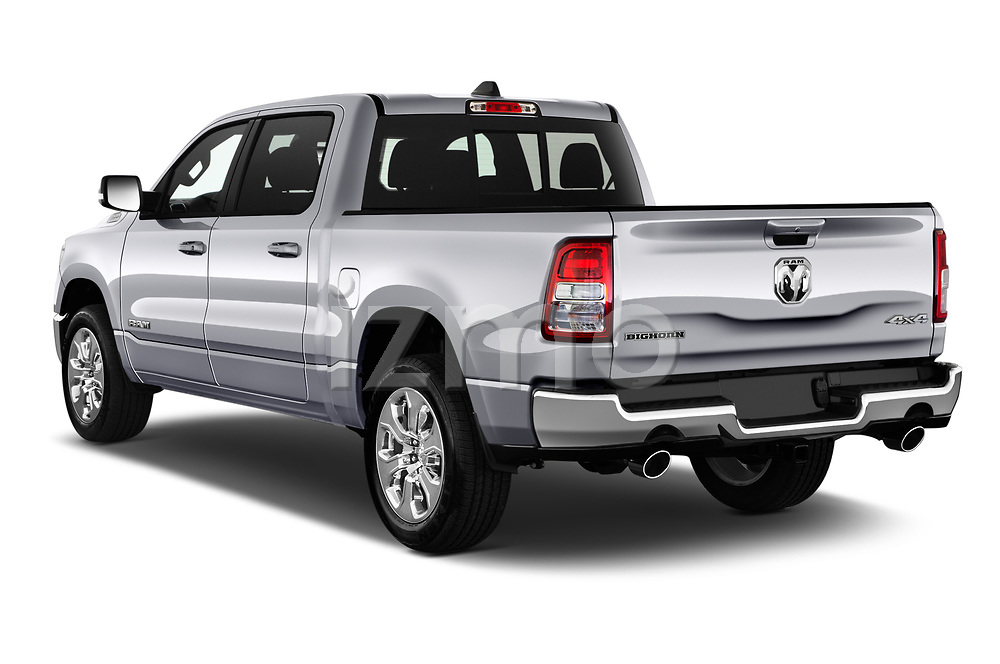 Car pictures of rear three quarter view of 2021 Ram 1500 Big-Horn 4 Door Pick-up Angular Rear